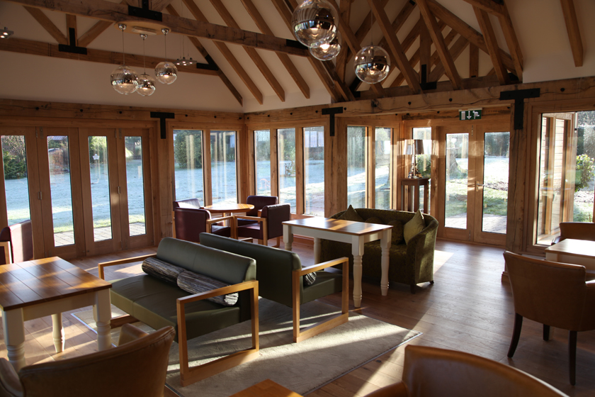 Eve's Bar - function room and event venue with wooden framing and modern furniture