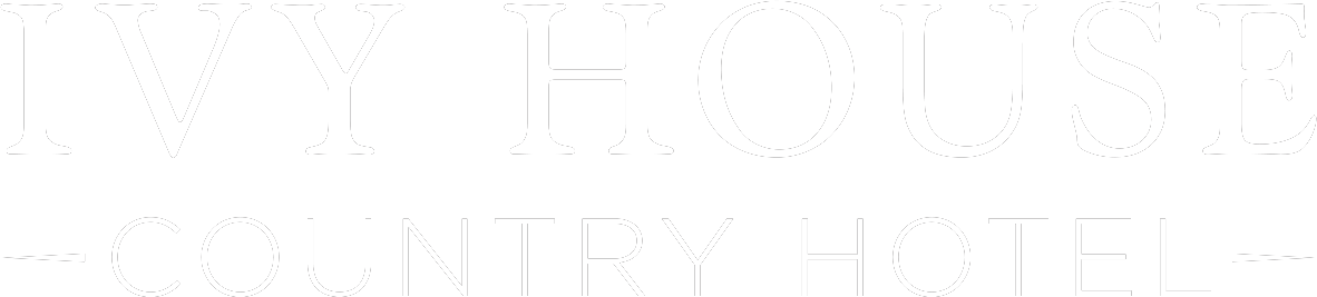 Ivy House Country Hotel Logo - White Color