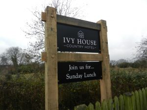 """Ivy House Country Hotel Sign - """"Join Us for...Sunday Lunch"""""""