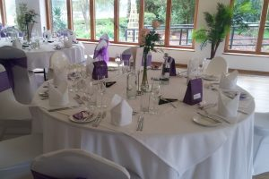 Table setting at our event venue in Suffolk