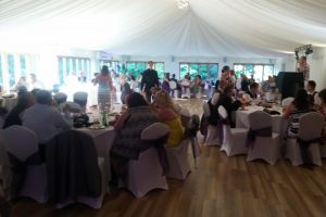 Guests enjoying a wedding at our venue in Suffolk