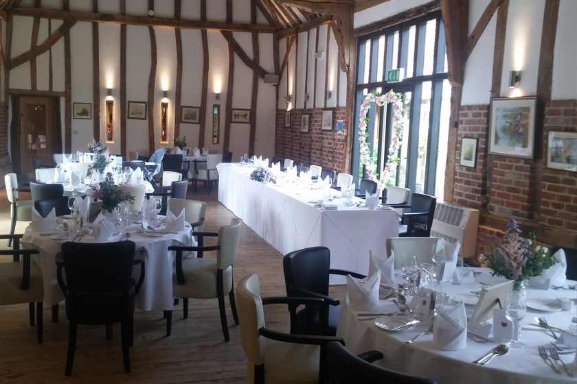 Tables in Function Rooms in Lowestoft, Suffolk