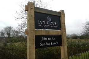 "Ivy House Country Hotel Sign - ""Join Us for...Sunday Lunch"""