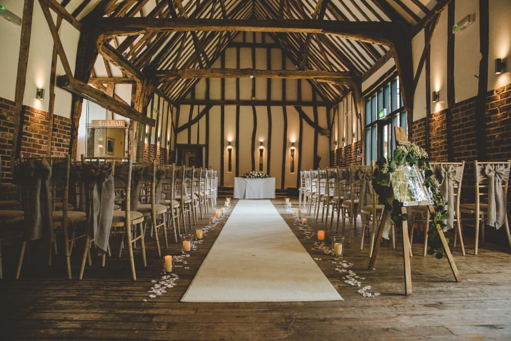 Wedding Venue Aisle in Lowestoft, Suffolk