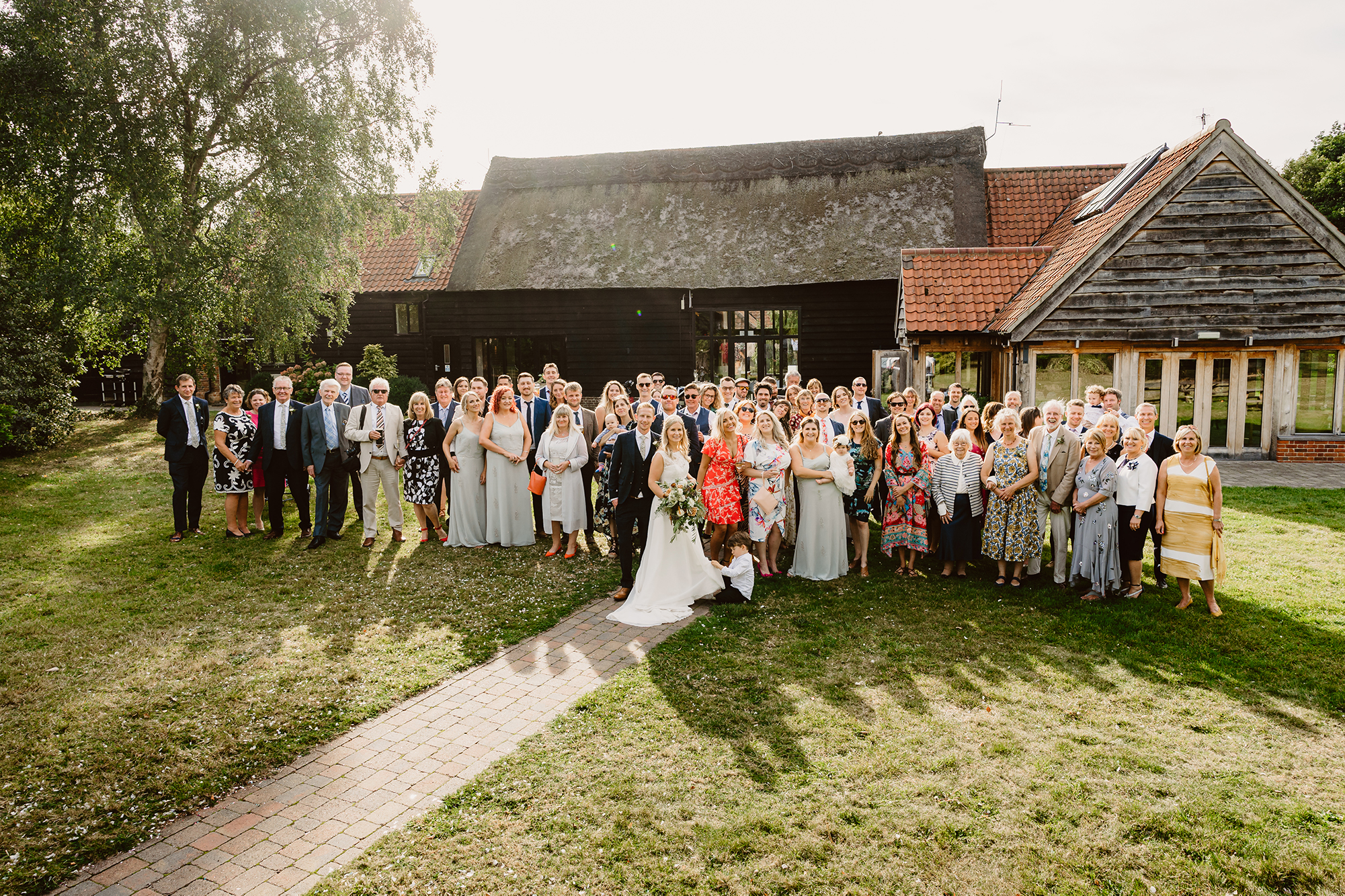 Wedding Photos of Entire Bridal Party at Ivy House Country Hotel