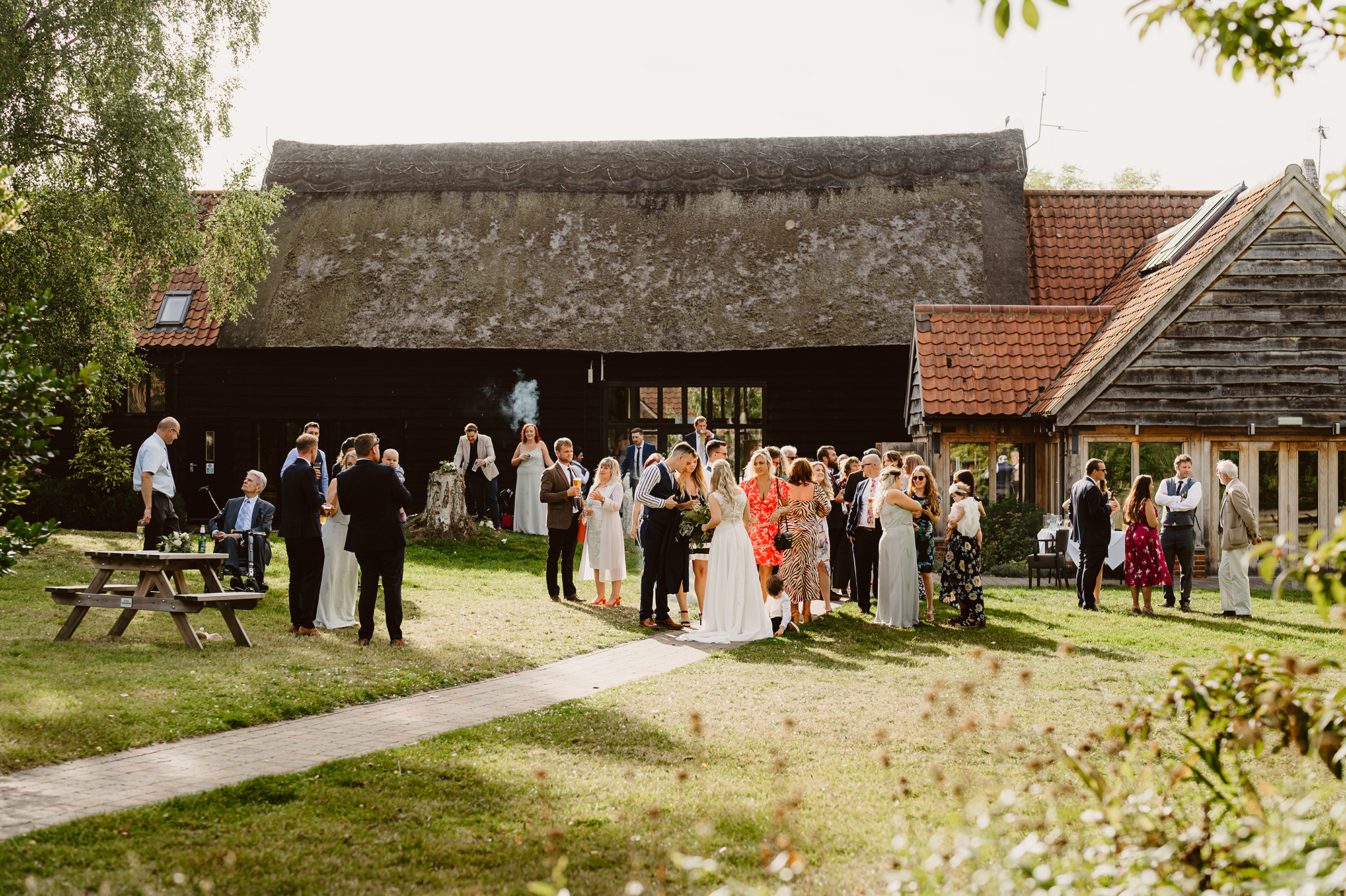 Genevieve and John's Outdoor Wedding Reception at Ivy House Country Hotel
