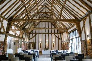 Ivy House wedding barn arranged for ceremony